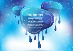 Abstract Dripping Banner Vector