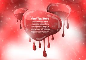 Red Dripping Banner Background Vector