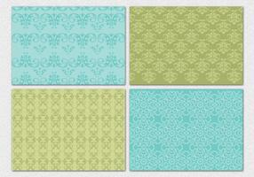 Decorative Damask Vector Patterns