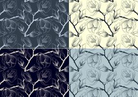 Sketched Floral Vector Patterns