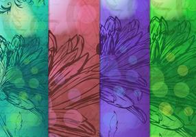 Vintage Drawn Floral Backgrounds Vector
