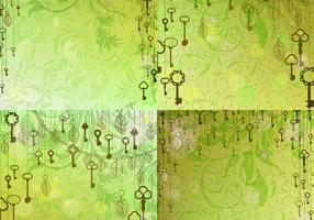 Vintage Skeleton Key Background Vectors