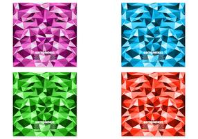 Bright Polygonal Background Vector Pack