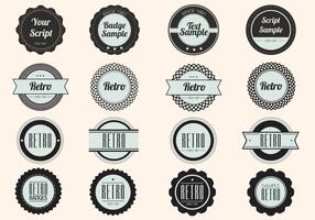 Black Retro Label Badge Vectors
