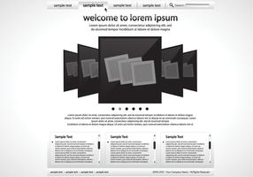 Sleek Black and White Website Vector Template