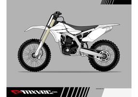 Motocross Bike Vector Template