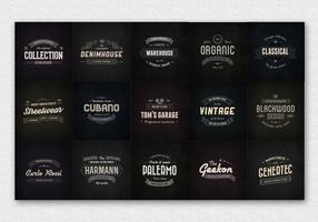 15 Vintage Badge Logo Vectors