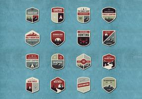 Outdoor and Camping Badge Vectors