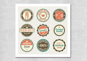 Circular Retro Premium Badge Vectors