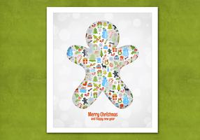 Bokeh Christmas Cookie Vector Background
