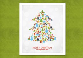 Bokeh Christmas Tree Vector Background