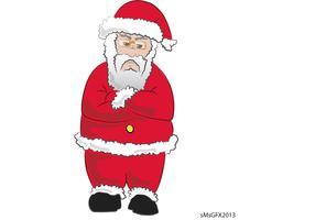 Mad Santa Vector