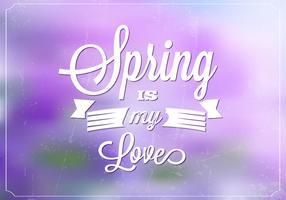 Bokeh Spring Vector Background