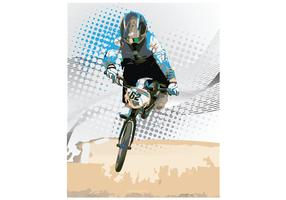 USA BMX Biker Vector 2014 Big Doubles