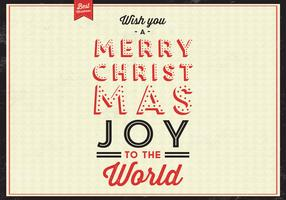 Christmas Joy Vector Background