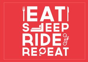 Eat Sleep Ride Repeat Vector Background