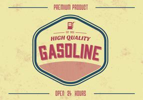 Vintage High Quality Gasoline Vector Background