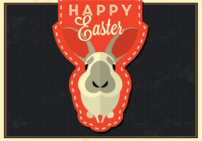 Happy Easter Bunny Vector Background
