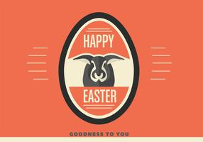 Happy Easter Egg Vector Background