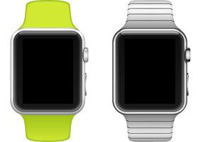 Vetor de relógio de maçã