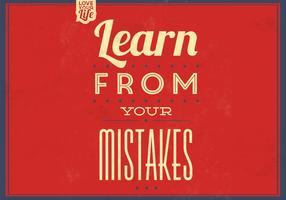 Learn From Your Mistakes Vector Background