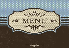 Blue Menu Vector Template