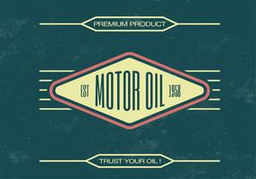 Vintage Motor Oil Vector Background