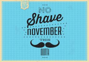 Vintage No Shave November Vector Background