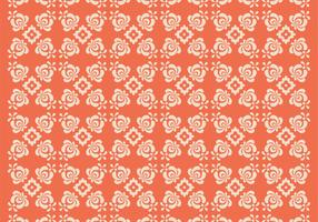 Orange Floral Vector Pattern Two