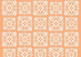 Retro Orange Ornament Vector Pattern