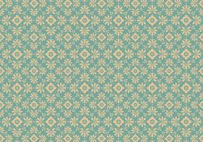 Blue Floral Vector Pattern