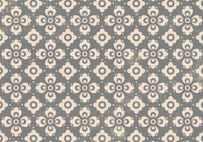 Gray Floral Ornament Vector Pattern