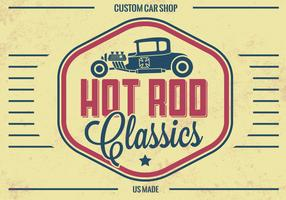 Vintage Hot Rod Vector Background