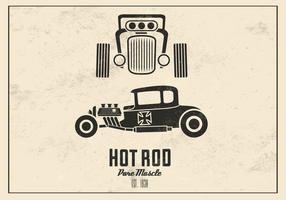 Retro Hot Rod Vector Background