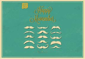 No Shave Movember Moustaches Vector Set