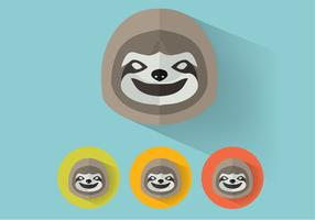 Sloth Vector Portraits