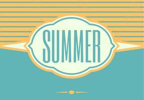 Retro Summer Vector Background