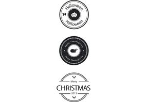 Free Holiday Badge Vectors