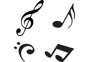 Free Modern Music Notes Vectors
