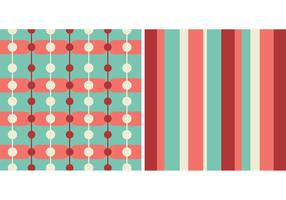 Free Teal and Coral Retro Patterns
