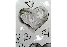 Free Watercolor Heart Vectors