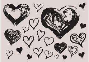 Free Grunge Heart Vectors
