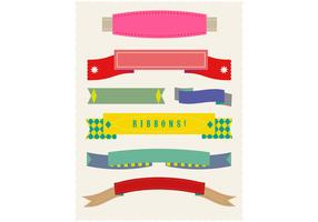 Set of Flat Ribbon Vectors