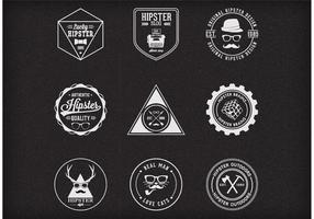 Free Vector Trendy Hipster Badges