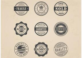 Free Vector Commercial Stamp Badges Set