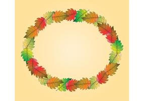 Free Fall Leaf Vector Frame