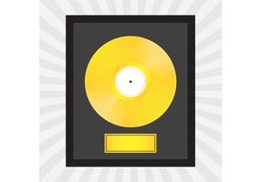 Gold Record Vector