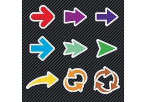 Bright Arrow Vectors