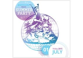 Free Summer Party Poster Vector