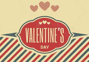 Vintage Valentine's Day Vector Background